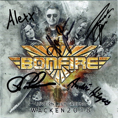 Bonfire - Live On Holy Ground Wacken 2018 (CD, signed)
